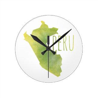 Peru Round Clock
