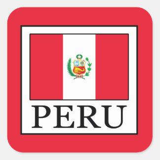 Peru Square Sticker