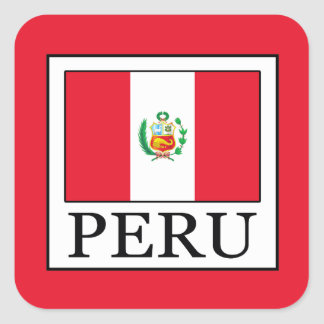 Peru Square Sticker
