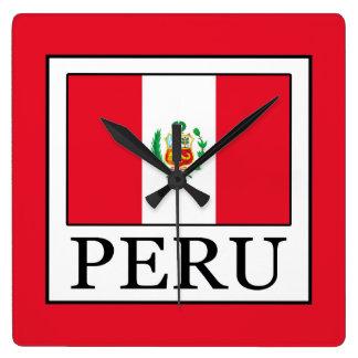 Peru Square Wall Clock