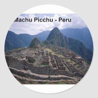 Peru The Ruins of Machu Picchu (St.K.) Classic Round Sticker