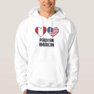 Peruvian American Heart Flags Hoodie