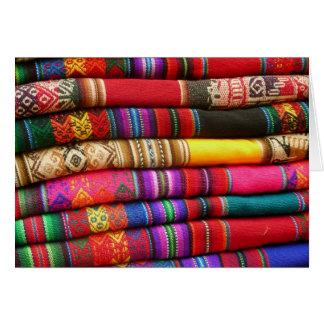 Peruvian Blankets Card