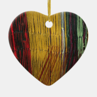 Peruvian colors ceramic heart decoration