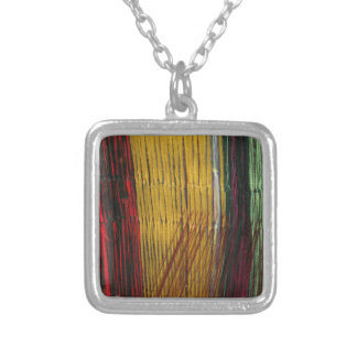 Peruvian colors silver plated necklace