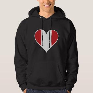 Peruvian Flag Heart Hoodie