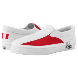 Peruvian flag Slip On Shoes Printed Shoes