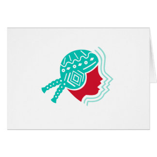Peruvian Girl Hat Side Icon Card