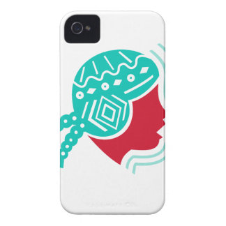 Peruvian Girl Hat Side Icon iPhone 4 Covers