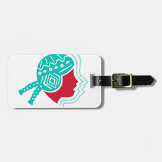Peruvian Girl Hat Side Icon Luggage Tag