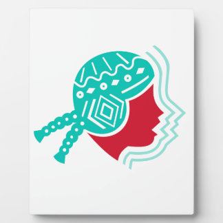 Peruvian Girl Hat Side Icon Plaque