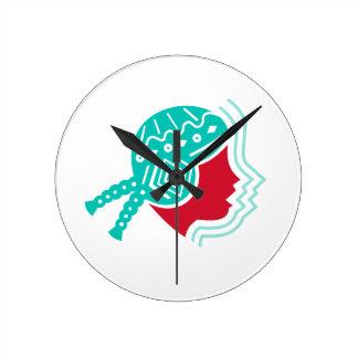 Peruvian Girl Hat Side Icon Round Clock