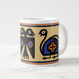 Peruvian Inca Tribal Birds Huge 20 Oz Coffee Mug
