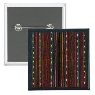 Peruvian Inca Weaving Design Stripes 15 Cm Square Badge