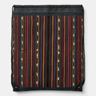 Peruvian Inca Weaving Design Stripes Drawstring Bag