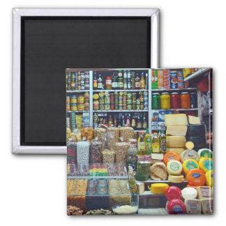 Peruvian Market Variety Square Magnet