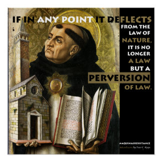 Perversion of Law Aquinas Resistance poster