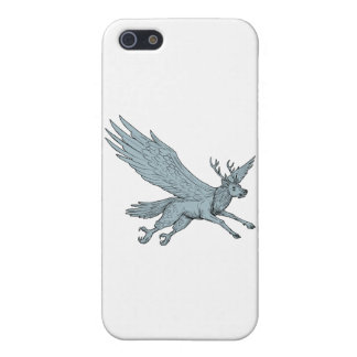Peryton Flying Side Drawing Cover For iPhone 5/5S