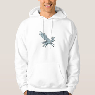 Peryton Flying Side Drawing Hoodie