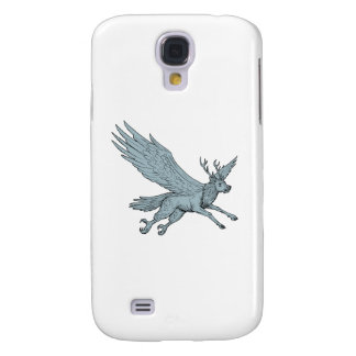 Peryton Flying Side Drawing Samsung Galaxy S4 Cover