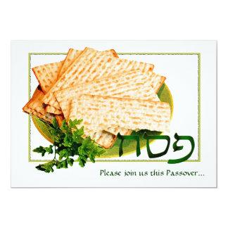 """Pesach, Matzah, Maror"" Passover Seder Invitations"