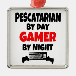 Pescatarian Gamer Metal Ornament