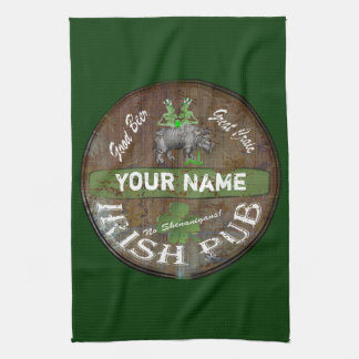 Pesonalized Irish pub sign Tea Towel