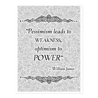 Pessimism leads to weakness - Positive Quote´s Postcard