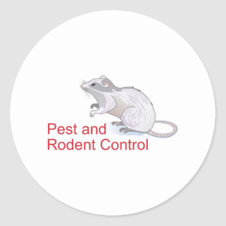 PEST AND RODENT CONTROL ROUND STICKERS