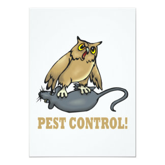 Pest Control 13 Cm X 18 Cm Invitation Card
