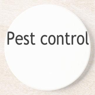 Pest control beverage coasters