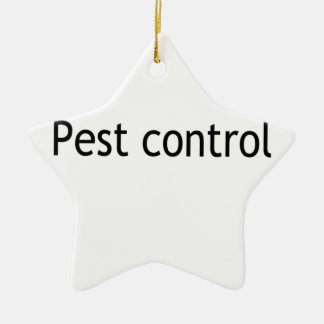 Pest control Double-Sided star ceramic christmas ornament