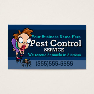 Pest Control.Exterminator.Animal trap.Customizable Business Card