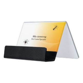 Pest Control Exterminator Bugs Insects Desk Business Card Holder