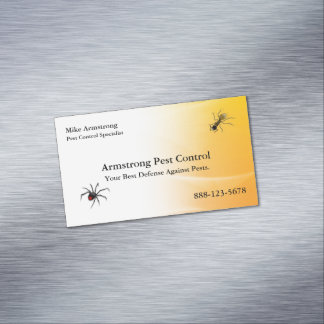 Pest Control Exterminator Bugs Insects Magnetic Business Card