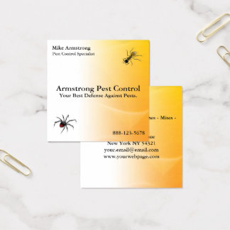 Pest Control Exterminator Bugs Insects Square Business Card