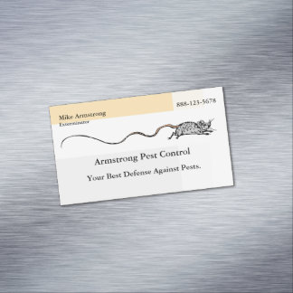 Pest Control Exterminator Mouse Magnetic Business Card