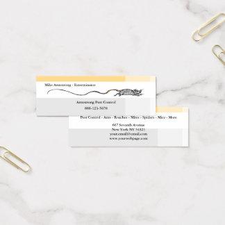 Pest Control Exterminator Mouse Mini Business Card