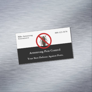 Pest Control Insect Bug Exterminator Magnetic Business Card