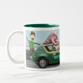 Pest Control International -  Gremlin attack Two-Tone Mug