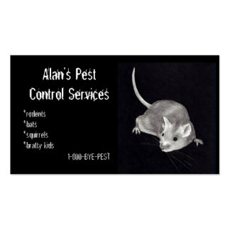 PEST CONTROL: MOUSE IN PENCIL: BUSINESS PACK OF STANDARD BUSINESS CARDS