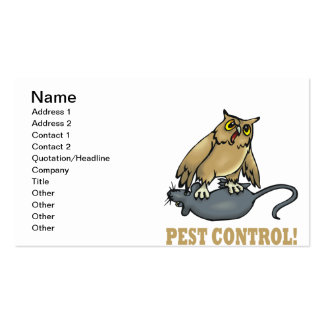 Pest Control Pack Of Standard Business Cards