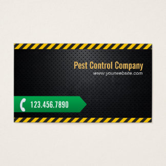 Pest Control Professional Dark Metal Business Card