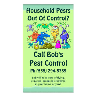 Pest Control Service Pack Of Standard Business Cards