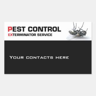 Pest control service rectangular sticker