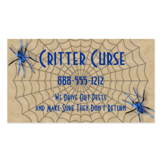 Pest Control Spiders and Web Double-Sided Standard Business Cards (Pack Of 100)