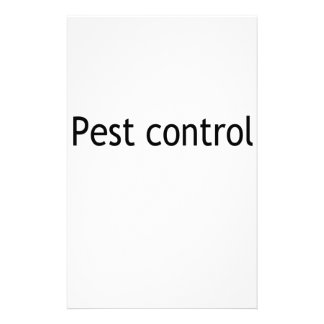 Pest control personalized stationery