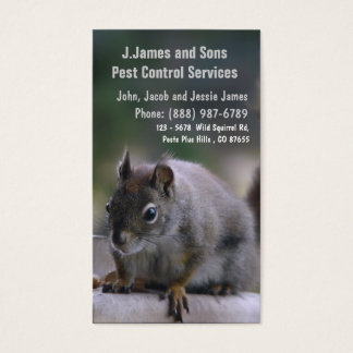 Pest Control Vermin Exterminator Business Card