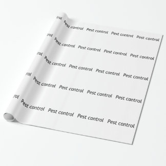 Pest control gift wrapping paper