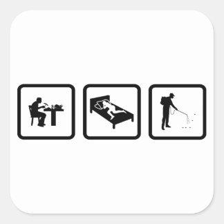 Pest Controller Square Stickers